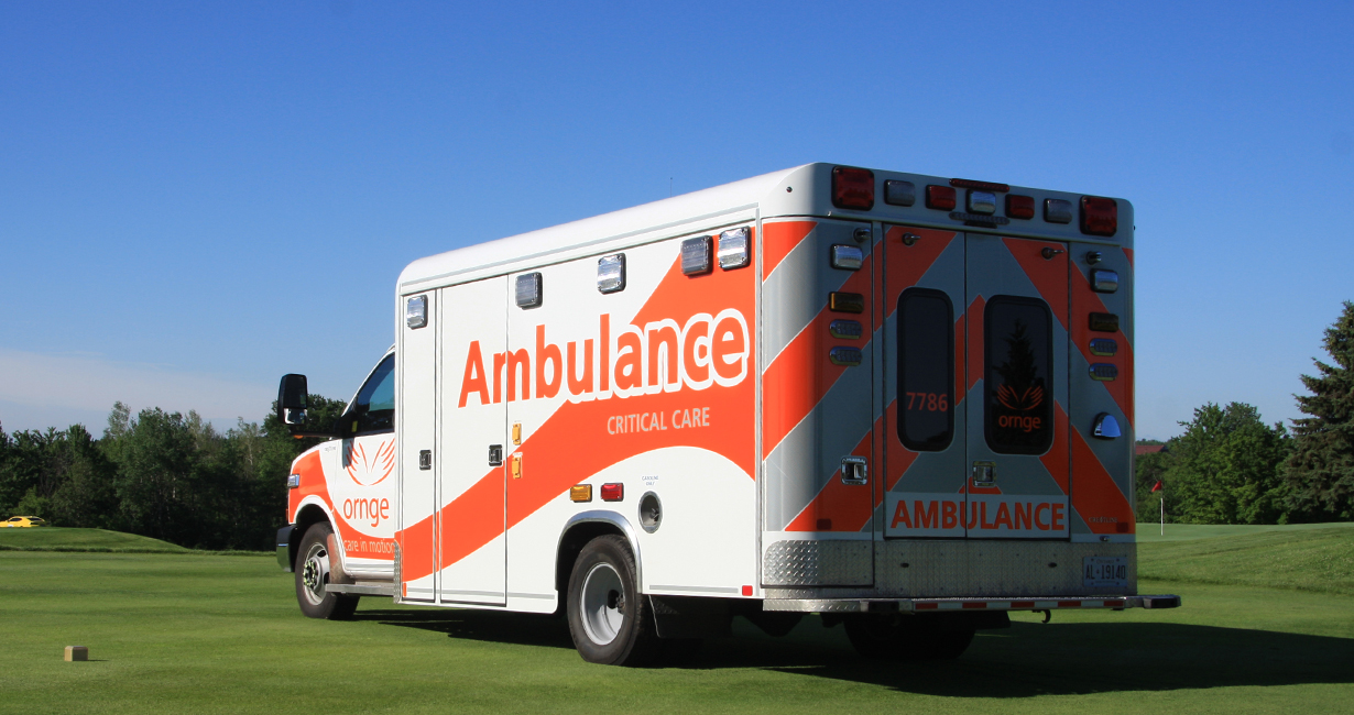 An image of an Ornge land ambulance van