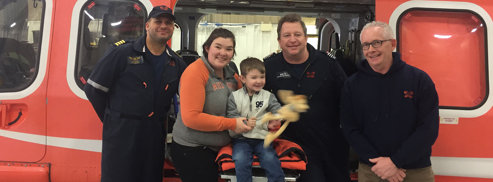 Christine Normore and son Joseph reconnect with Ornge crew