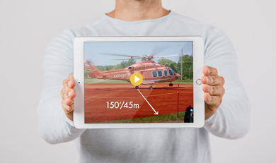 Ornge Landing Safety Zone video on a ipad