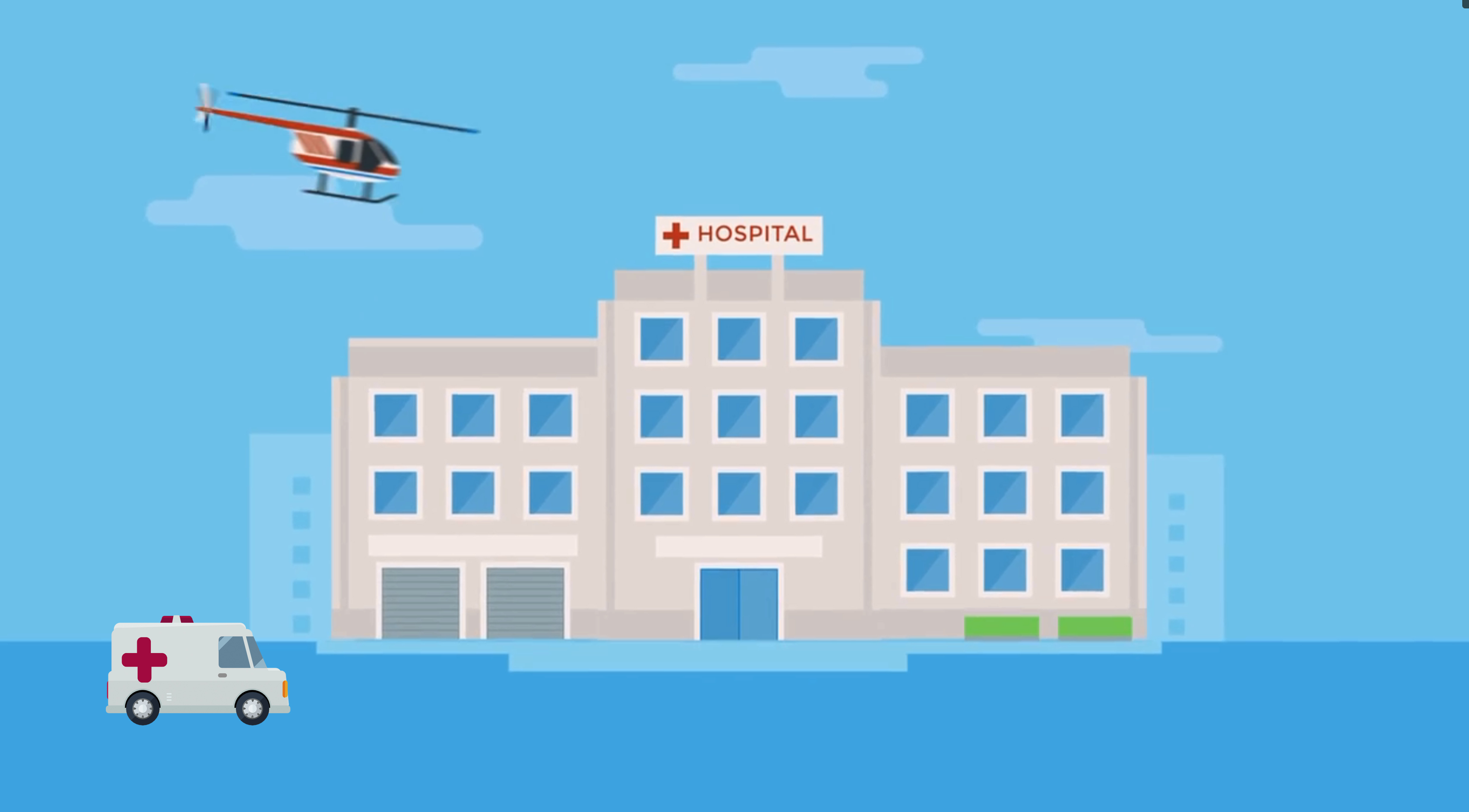 Hospital and Helicopter