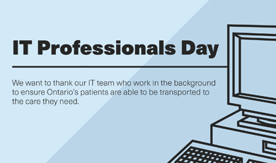IT Professional Day Title with image of computer