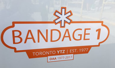 The new Bandage 1 decal to be placed on Ornge vehicles