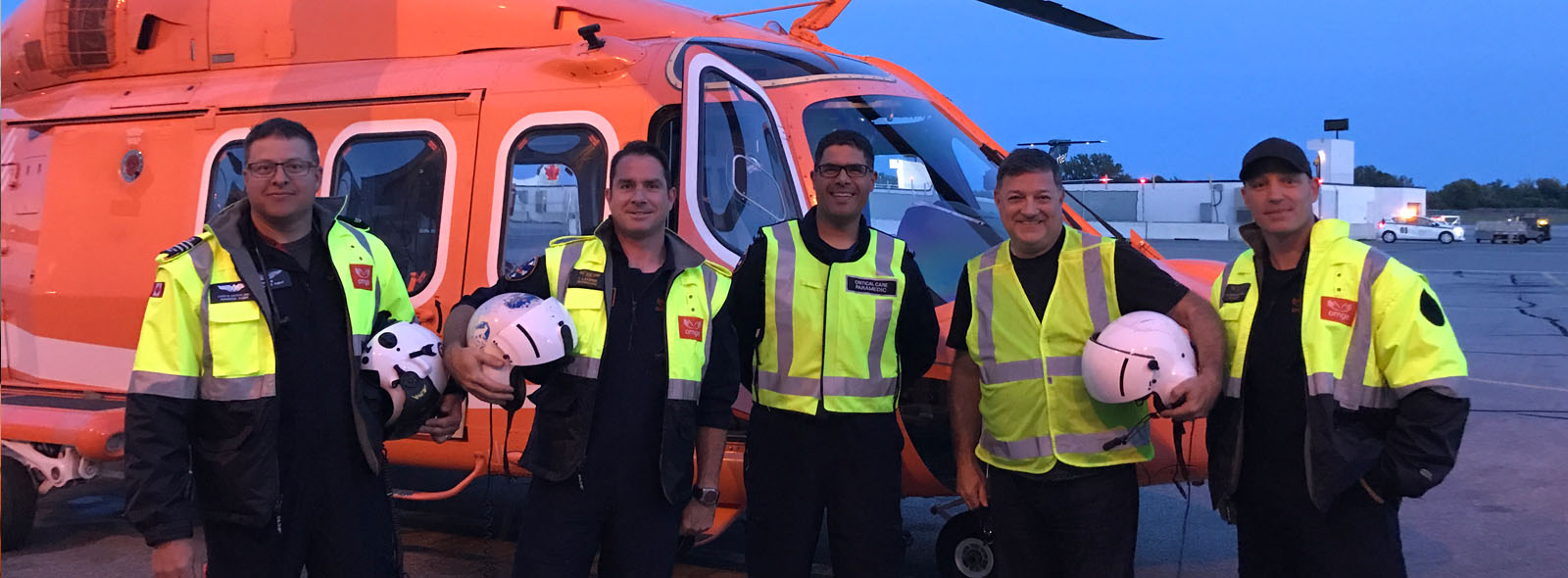 Breakfast Television Co-Host Kevin Frankish with Ornge Toronto crew.