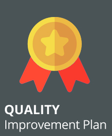 Image of a award with the words Quality Improvement Plan