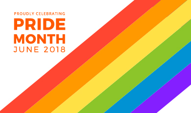 Ornge logo and pride rainbow