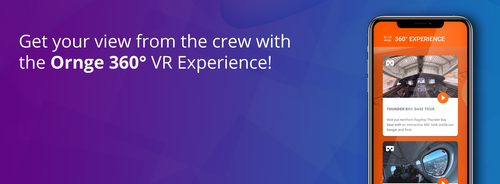 Get your view from the crew with  the Ornge 360° VR Experience!